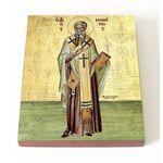 Святитель Мелетий, архиепископ Антиохийский, икона на доске 13*16,5 см - Иконы