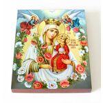 """Икона Божией Матери """"Неувядаемый Цвет"""", доска 13*16,5 см - Иконы"""