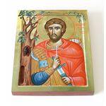 Преподобномученик Николай Новый Вуненский, икона на доске 13*16,5 см - Иконы