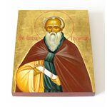 Преподобный Павел Препростый, икона на доске 13*16,5 см - Иконы