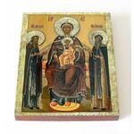 Свенская Печерская Икона Божией Матери, печать на доске 13*16,5 см - Иконы