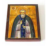 Преподобный Сильвестр Обнорский, Пошехонский, икона на доске 13*16,5 см - Иконы