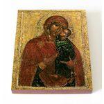 Толгская икона Божией Матери, Ярославль, 1314 г, доска 13*16,5 см - Иконы