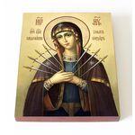 """Икона Божией Матери """"Умягчение злых сердец"""", печать 13*16,5 см - Иконы"""