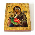 """Икона Божией Матери """"Утоли моя печали"""", печать на доске 13*16,5 см - Иконы"""