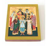 Святые царственные страстотерпцы, икона на доске 13*16,5 см - Иконы