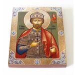 Благоверный князь Юрий Всеволодович, Георгий, на доске 13*16,5 см - Иконы