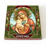 Жировицкая икона Божией Матери, печать на доске 14,5*16,5 см - Иконы