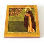 Преподобный Макарий Калязинский, икона на доске 14,5*16,5 см - Иконы