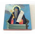 Преподобный Никита Столпник, Переяславский, икона на доске 14,5*16,5см - Иконы