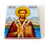 Преподобный Лев, епископ Катанский, икона на доске 14,5*16,5 см - Иконы
