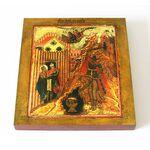 Усекновение главы Иоанна Предтечи, XVII в, икона на доске 14,5*16,5 см - Иконы