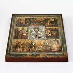 Великорецкая икона Николая Чудотворца, печать на доске 20*25 см - Иконы