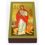 Мученица Дария Римская, икона на доске 7*13 см - Иконы