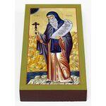 Преподобный Иоанн Рыльский, печать на доске 7*13 см - Иконы