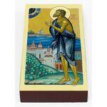 Блаженный Исидор Твердислов, Ростовский, икона на доске 7*13 см - Иконы