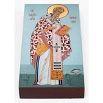 Равноапостольный Мефодий Моравский, икона на доске 7*13 см - Иконы