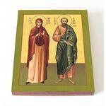 Апостол от 70-ти Акила Гераклейский и его жена Прискилла, доска 8*10см - Иконы