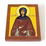 Преподобная Афанасия Эгинская, игумения, икона на доске 8*10 см - Иконы