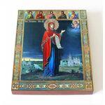 Боголюбская икона Божией Матери, печать на доске 8*10 см - Иконы