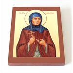 Преподобная Дария Сезеновская, Лебедянская, икона на доске 8*10 см - Иконы