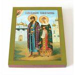 Димитрий Донской и Евфросиния Московская, икона на доске 8*10 см - Иконы