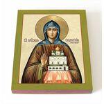 Преподобная Евфросиния Московская, Евдокия, икона на доске 8*10 см - Иконы