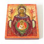 """Икона Божией Матери """"Жена Облеченная В Солнце"""", доска 8*10 см - Иконы"""
