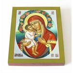 Жировицкая икона Божией Матери, печать на доске 8*10 см - Иконы
