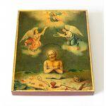 Преподобный Иоанн Печерский, Многострадальный, печать на доске 8*10 см - Иконы