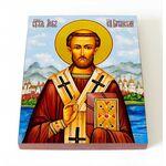 Преподобный Лев, епископ Катанский, икона на доске 8*10 см - Иконы