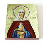 Праведная Мария Вифанская, сестра Лазаря, икона на доске 8*10 см - Иконы