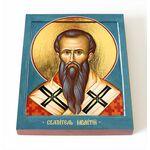 Святитель Мелетий, архиепископ Антиохийский, икона на доске 8*10 см - Иконы