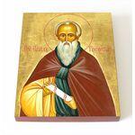 Преподобный Павел Препростый, икона на доске 8*10 см - Иконы