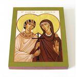 Мученицы Перпетуя и Филицитата Карфагенские, икона на доске 8*10 см - Иконы