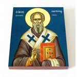 Святитель Порфирий, архиепископ Газский, икона на доске 8*10 см - Иконы