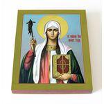 Равноапостольная Нина просветительница Грузии, икона на доске 8*10 см - Иконы