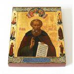 Преподобный Севастиан Сохотский, Пошехонский, икона на доске 8*10 см - Иконы