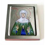 Преподобномученица Тамара Сатси, игумения, печать на доске 8*10 см - Иконы