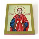 Мученик Тимофей Фиваидский, чтец, печать на доске 8*10 см - Иконы