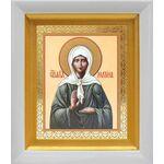 Блаженная Матрона Московская, икона в белом киоте 14*16 см - Иконы