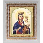 Озерянская икона Божией Матери, в белом киоте 14*16 см - Иконы
