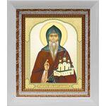Благоверный князь Олег Брянский, икона в белом киоте 14*16 см - Иконы