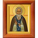 Преподобный Сильвестр Обнорский, Пошехонский, икона в рамке 8*9,5 см - Иконы