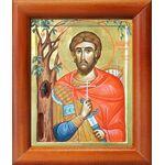 Преподобномученик Николай Новый Вуненский, в рамке 8*9,5 см - Иконы