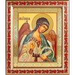 Ангел Хранитель поясной, икона в рамке с узором 19*22,5 см - Иконы