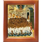 Сорок мучеников Севастийских, XV-XVI вв, икона в рамке 12,5*14,5 см - Иконы