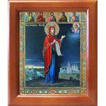 Боголюбская икона Божией Матери, рамка 12,5*14,5 см - Иконы
