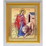 Мученица Татиана Римская, икона в белом киоте 19*22 см - Иконы