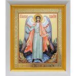 Ангел Хранитель, икона в белом киоте 19*22 см - Иконы